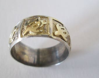 Sterling Silver Turtle Ring 3.6grams Size 5 FREE SHIPPING