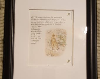 Peter Sits Down to Rest - The Tale of Peter Rabbit - Beatrix Potter - Aproximaitely 5 1/2 x 7 1/2 inches