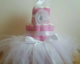 Beautiful girl diaper cake