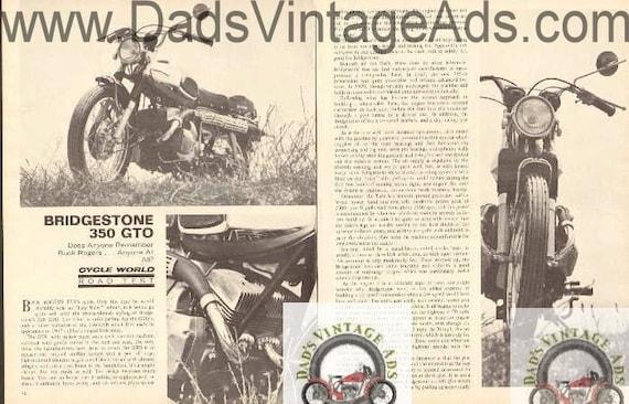 1970 Bridgestone 350 GTO Motorcycle Road Test 4-Page Article #bv7010a22