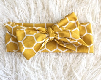 NEW FALL COLLECTION...Headwrap, headband, bows, mustard