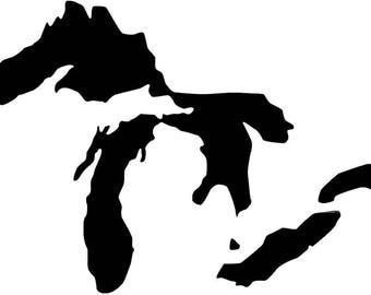 Pack of 3 Great Lakes Stencils, Made from 4 Ply Mat Board 18x24, 16x20 and 11x14
