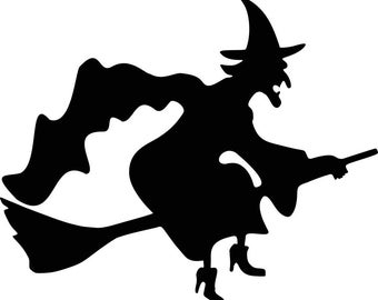 Pack of 3 Halloween Witch Stencils, 16x20, 11x14 and 8x10