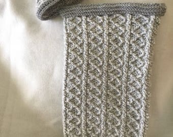 Baby Boy or Girl Crocheted Cocoon/Swaddle