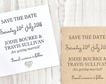 Personalised Save The Date Invitation Card. Envelope