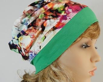 Summer beanie Lightweight hat Women headwear Summer slouchy hat Headcover summer Jersey beanie women Chemo hat Summer beanie stretch S-L