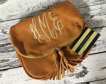 Monogrammed crossbody purse