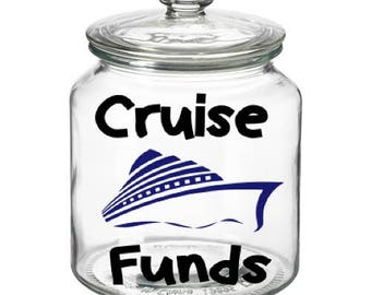 Cruise Funds Decal , Piggy bank decals, savings decal