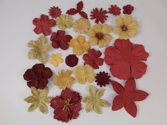 Prima paper flowers red and gold assortment no 409 got flowers prima paper flowers red and gold assortment no 409 got flowers supplies mulberry paper flowers prima flowers embellishment supply supplies from mightylinksfo