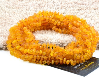 Amber Wholesale LOT - 10 RAW Honey Amber Baby Necklaces, Available in 12.6 Length (32-33 cm), Made from Nuggets Amber Beads