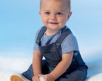McCall's M7038 Infants' Snap-Closure Tops, Jumper and Overalls Sewing Pattern / Uncut/FF
