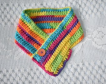 Rainbow childrens cowl