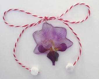 Martisor - frozen flowers-handmade in the US