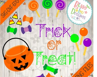 Halloween SVG, DXF, EPS cut file trick or treat svg baby svg halloween dxf  cute svg fun svg halloween cut file fall cut file hallowen svg