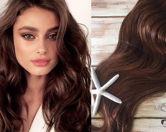 Ombre hair extensions balayage hair extensions wedding hair brown hair extensions medium brown hair clip in hair thick hair mermaid pmusecretfo Images