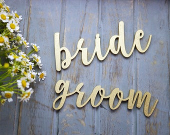 Bride and Groom Wedding Place Settings   Wedding Plate Signs