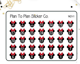 1401~~Disney Vacation Countdown Planner Stickers.