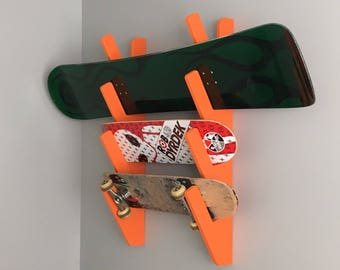 Painted skateboard / snowboard rack