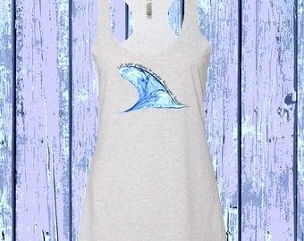 Shark Fin Watercolor Tank Top