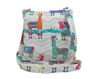 20% OFF SALE Llama Crossbody Bag // Sling Bag // Crossbody Purse // Shoulder Bag // Hipster