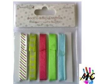 Set of 5 ribbons, craft supplies