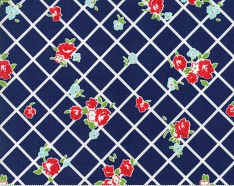 "Moda ""The Good Life"" by Bonnie and Camille ~ EVERYDAY ~ Navy 55153 26  ~ Floral ~ Half Yard Increments"