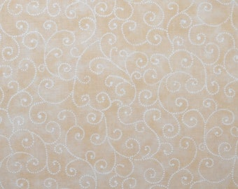 "Moda Basics ""MARBLE SWIRLS""  ~ 9908-21 Off White ~ Tonal Cream with Swirls ~ Half Yard Increments"