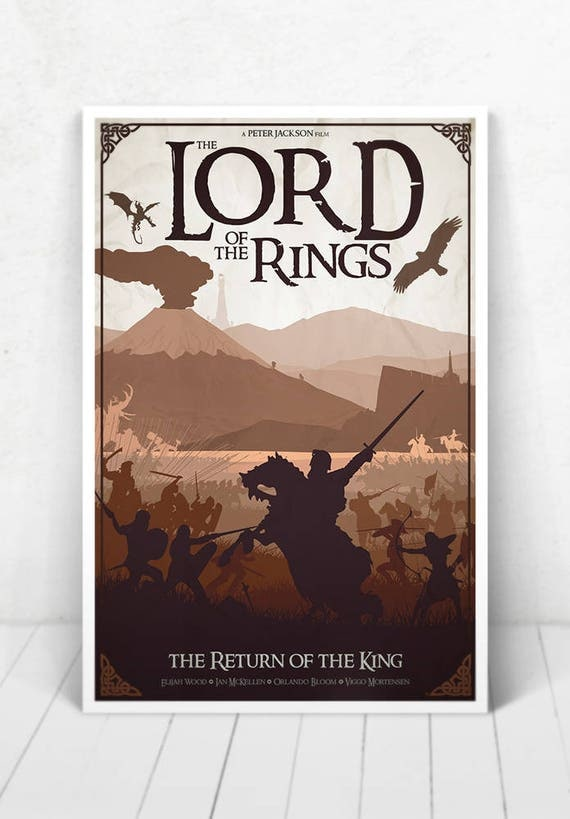 Lord of the Rings Movie Poster Illustration / Lord of the Rings Movie Poster / Movie Poster / Lord of the Rings / The Return of the King