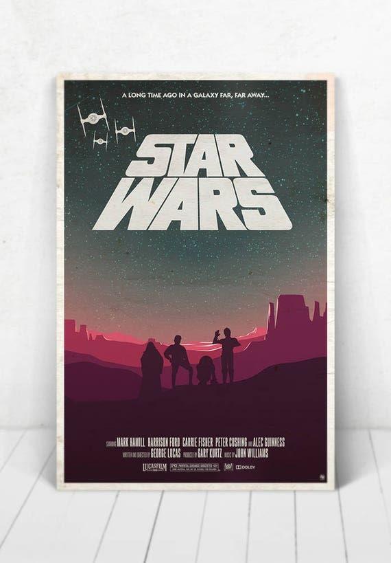 Star Wars Movie Poster Illustration / Star Wars Movie Poster / Movie Poster / Star Wars / A New Hope