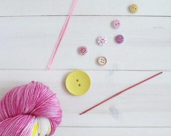 Princess Bubblegum - Adventure Time themed hand dyed yarn - 100g sparkle sock yarn - superwash merino wool