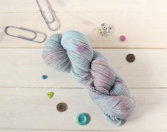 Hand dyed nerdy yarn Discovery - hand painted yarn - Star Trek yarn - lace yarn - indie dyed yarn -  - crochet yarn - pumpkin spice yarn