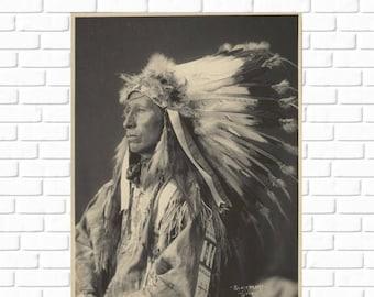 ON SALE Blackheart Sioux-  Frank A. Rinehart - 1898 - Photo - Vintage - Antique - Native American - Print - Photograph - History