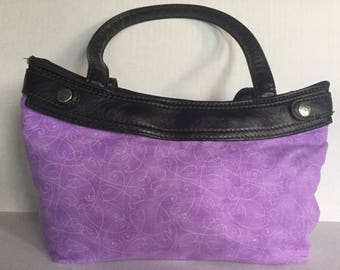 Purple Heart Purse Skirt ONLY for Old Style Thirty-One Skirt Purse