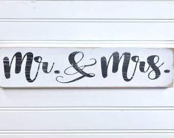 Mr. And Mrs., Wedding signs, Wedding decor, Wedding gift, Wood signs, Mini signs