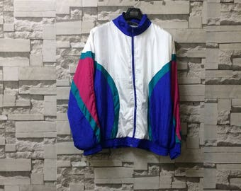 Vintage neon colour windbreaker multicolour cross colour hipster sportswear polo sport ralph lauren adidas nike champion
