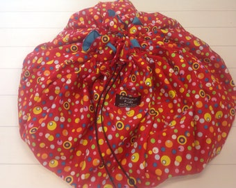 Lego Bag / Toy Mat / Play Mat / Duplo Mat / Storage Bag /  Toy Sack Bag / Play Pack N Travel / All in one Mat and toy bag, Toy Sack