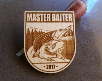 Master Baiter Laser Engraved Velcro Backed Wooden Morale Patch