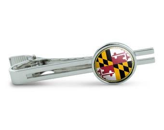 Maryland State Flag Men's Tie Clip Tack Bar