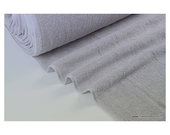 Eponge coton gris lisiere cousue fermée