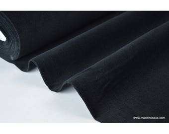 Black .x1m cotton corduroy fabric