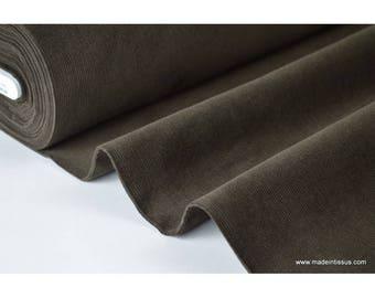 Chocolate brown cotton corduroy .x1m fabric
