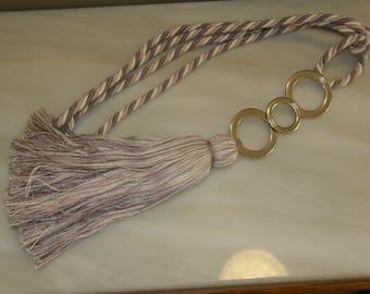 Tieback Contemporary Metallic Rings Holdback Curtains Tassel Drapes Modern Tie back Color Voiles Inox Holdback.