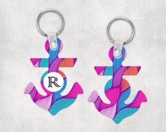 Monogram Keychains for Women | 2-sided Semi-Gloss White Sublimation Aluminum