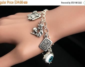 BACK to SCHOOL SALE Gypsy Bracelet. Fortune Teller Charm Bracelet. Mystic Bracelet. Oracle Bracelet. Ouija Bracelet. Tarot Bracelet. Silver