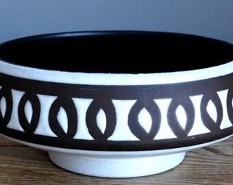 RETRO Vintage 50's STEULER KERAMIK 4291 Bowl West German Art Fat Lava Vase Era