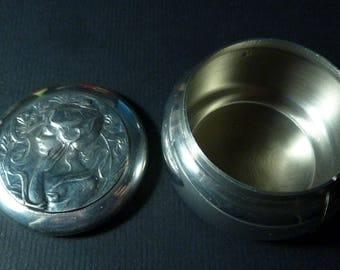 Pewter Etain 94 Zinn Stamp Dispenser/Trinket Box - France