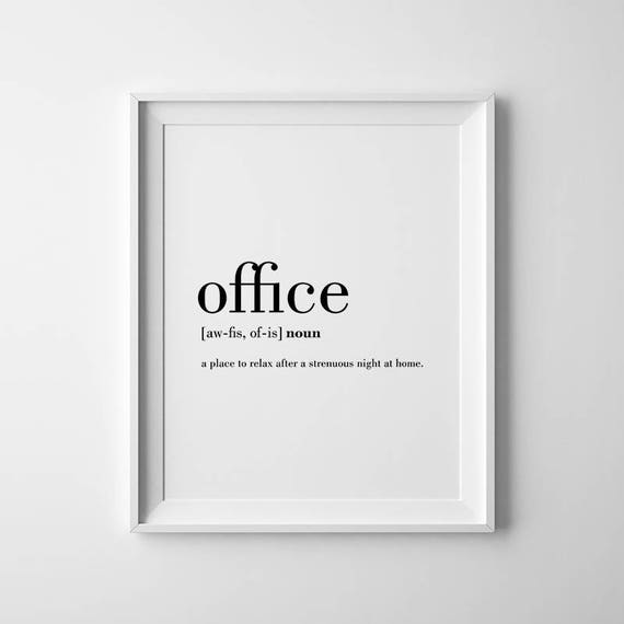 Office Wall Art, Office Printables, Funny Definition Art, Office Decor,  Prints For Office, Funny Quotes Prints