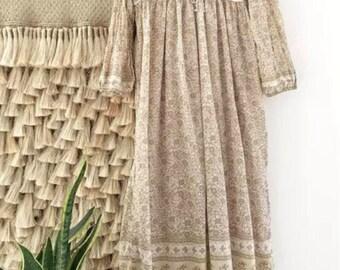 Sale ** Kiyomi Gypsy Boho Beige Maxi Dress