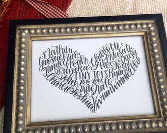 Personalized Teacher Gift, 5x7 on card stock