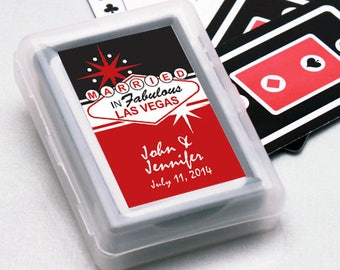 12pcs Married in Las Vegas Personalized Playing Cards - JM558700-FC6704